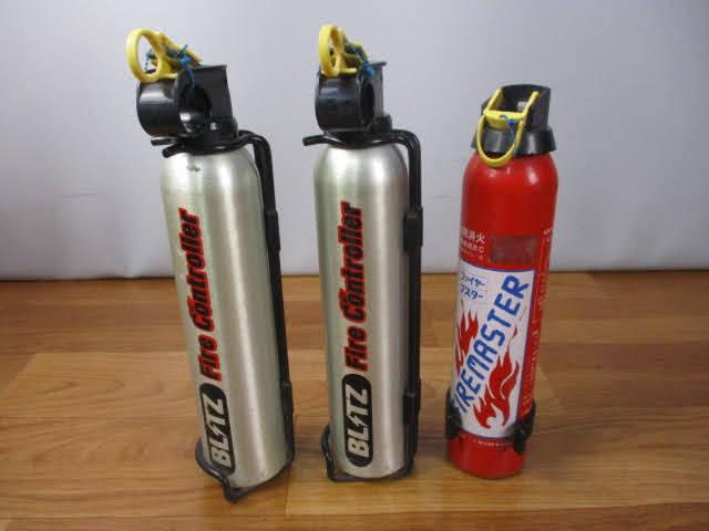 ◆ブリッツ 消火器 3点セット◆BLITZ Fire controller ファイヤーコントローラー 自動車用 消火剤スプレー式 使用期限切 まとめ♪H-150116_画像1