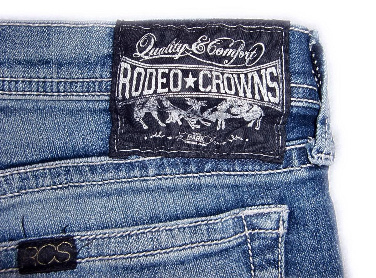 RODEO CROWNS 【ストレッチ素材】 W24 (実77cm) 【管8-4】 ローライズ / 送料¥198_画像9