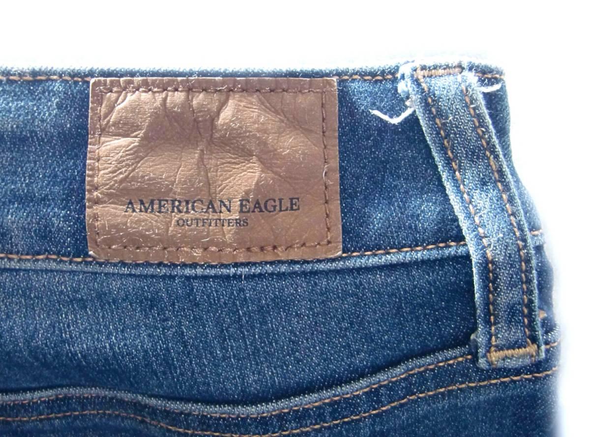 AMERICAN EAGLE 【強ストレッチ】 W実82cm~ 【管14-2】送料¥198_画像7