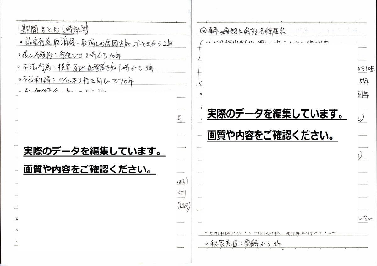 中小企業診断士一次試験7科目合格ノートのデータ_画像7