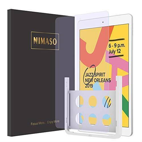 【驚愕安!】 【ガイド枠付き】 【 ブルーライトカット 】 Nimaso iPad 10.2 ガラスフィルム (第7世代) 強化ガラス 液晶保護フィルム_画像1