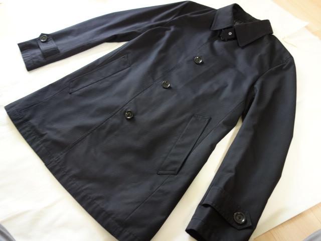 美品 バーバリーブラックレーベル ステンカラーコート 黒 M _画像1