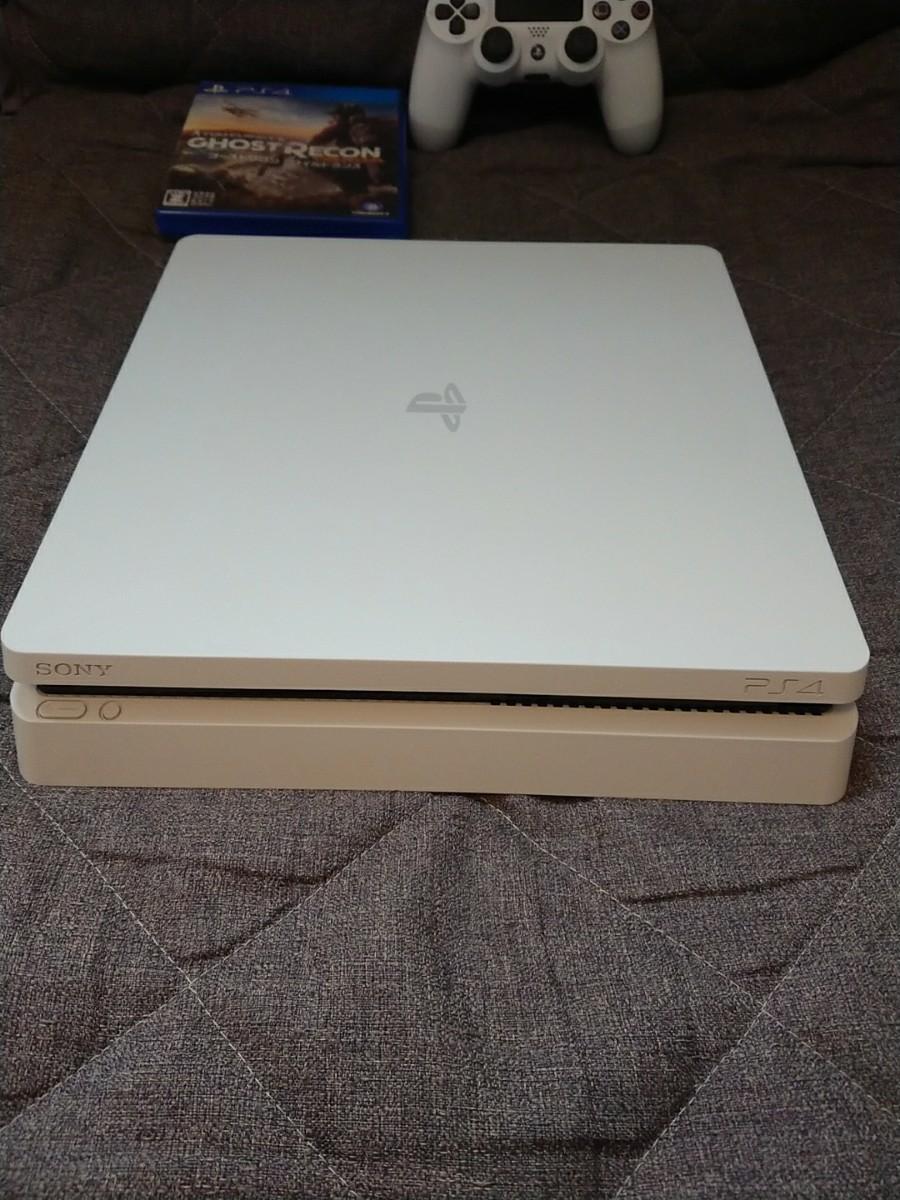 PS4 本体 CHU-2100A B02 ホワイト500GB、PS4 ゴーストリコン ワイルドランズ ☆送料無料