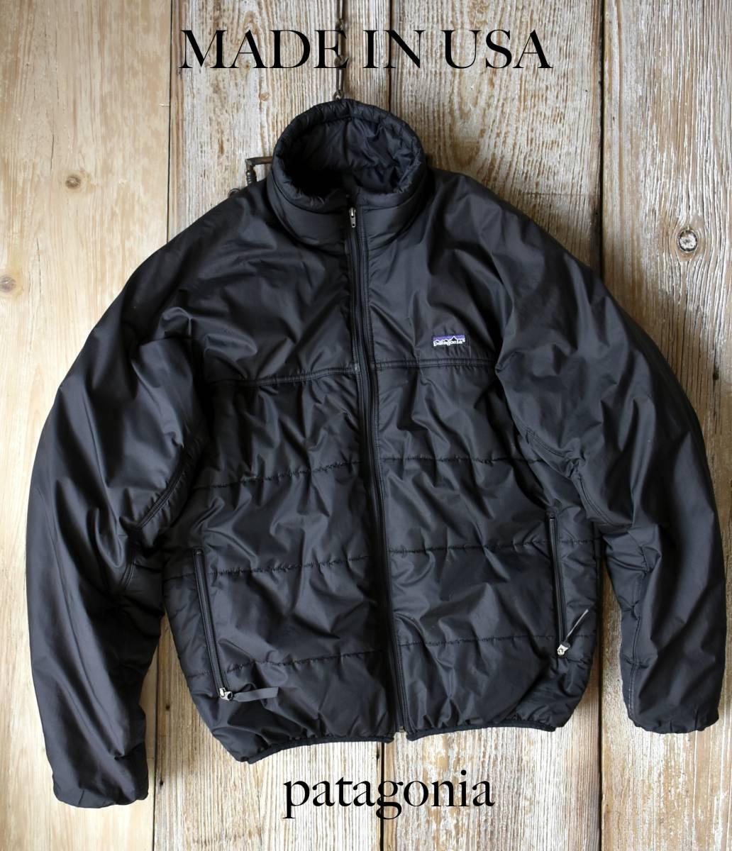 希少 90s ヴィンテージ USA製 patagonia パタゴニア 中綿 インサレーション ブルゾン ジャケット ブラック Lサイズ