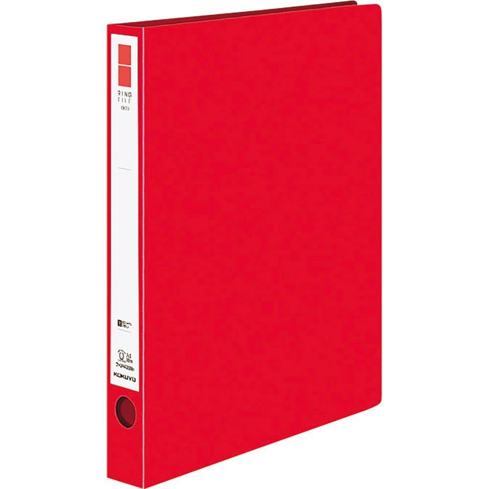 【新品】コクヨ リングファイル ER 丸型 2穴 A4縦 背幅39mm PP表紙 赤 フ-UR430NR 1セット(10冊)_画像1