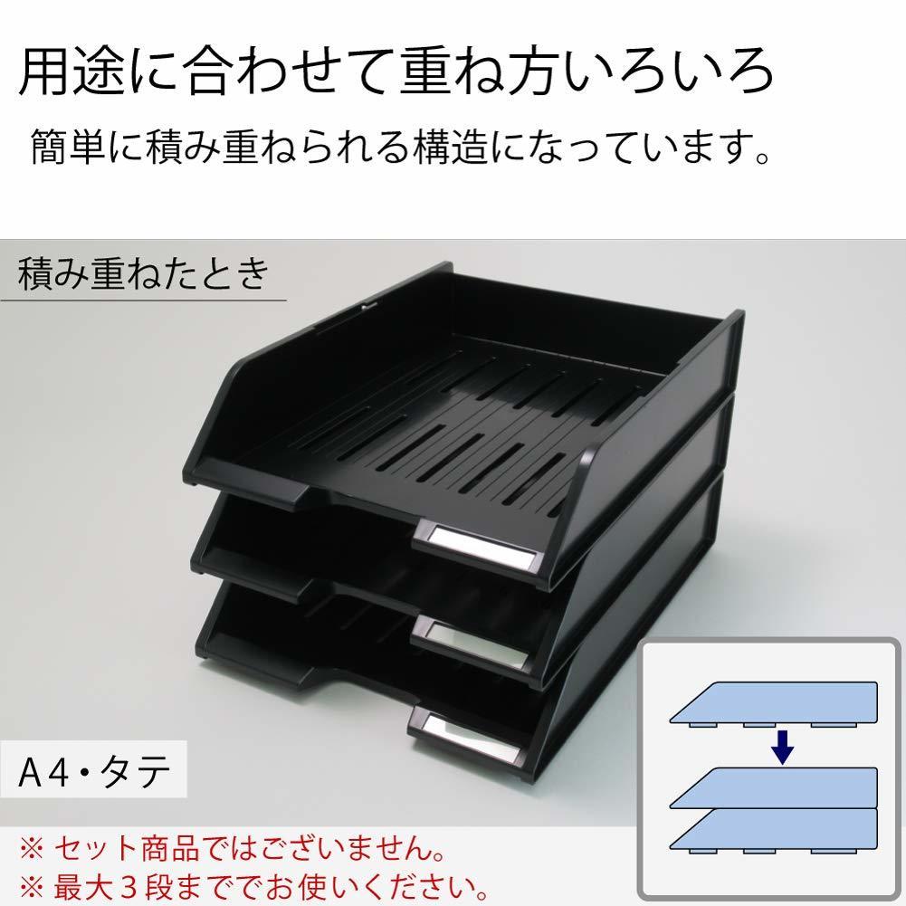 【未使用品】コクヨ レターケース スタッキングトレー A4 黒 DT-40NDZ_画像2