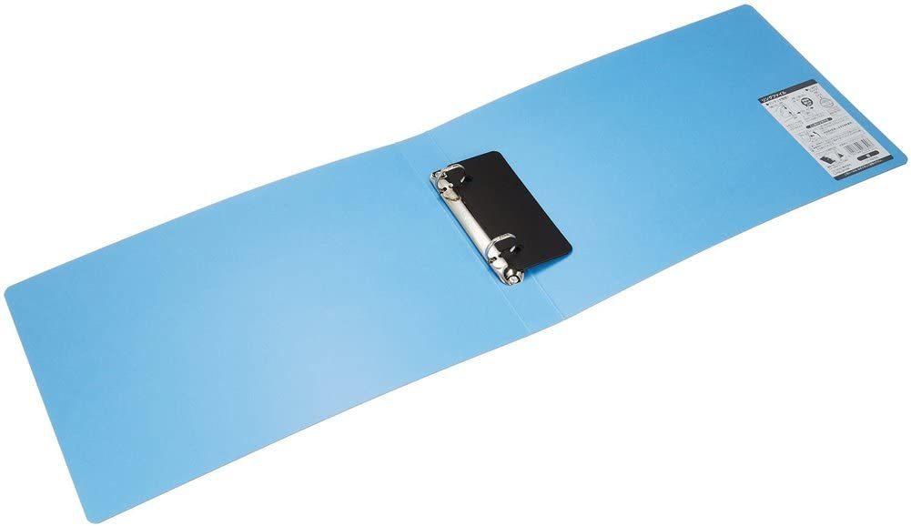 【未使用品】コクヨ ファイル リングファイルボード 表紙 A4 横 青 フ-425B×2冊セット_画像2