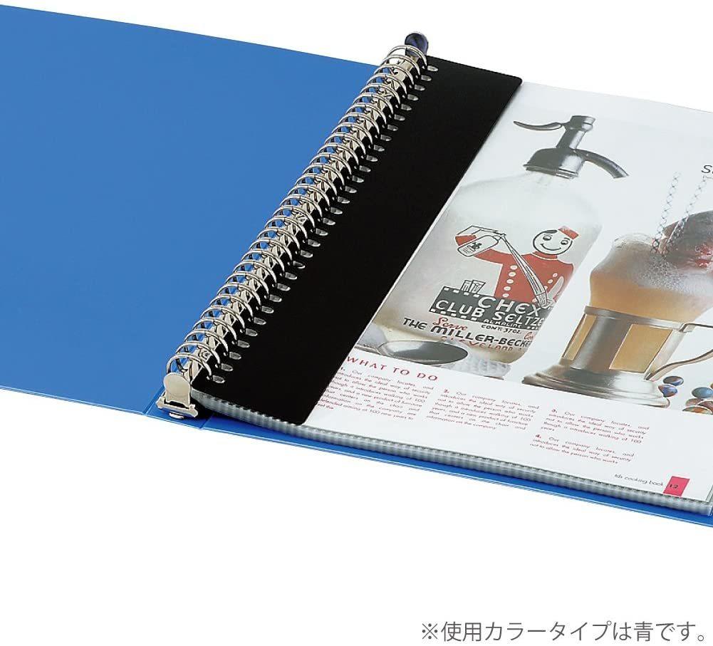 【未使用品】コクヨ ファイル クリヤーブック 替紙式 B5 18枚 青 ラ-321B_画像2