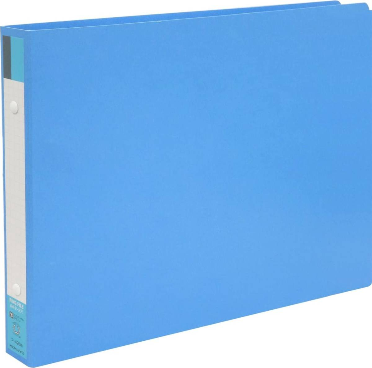 【未使用品】コクヨ ファイル リングファイルボード 表紙 A4 横 青 フ-425B×2冊セット_画像1