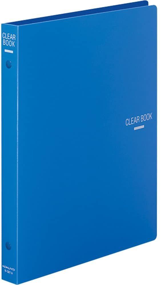 【未使用品】コクヨ ファイル クリヤーブック 替紙式 B5 18枚 青 ラ-321B_画像1