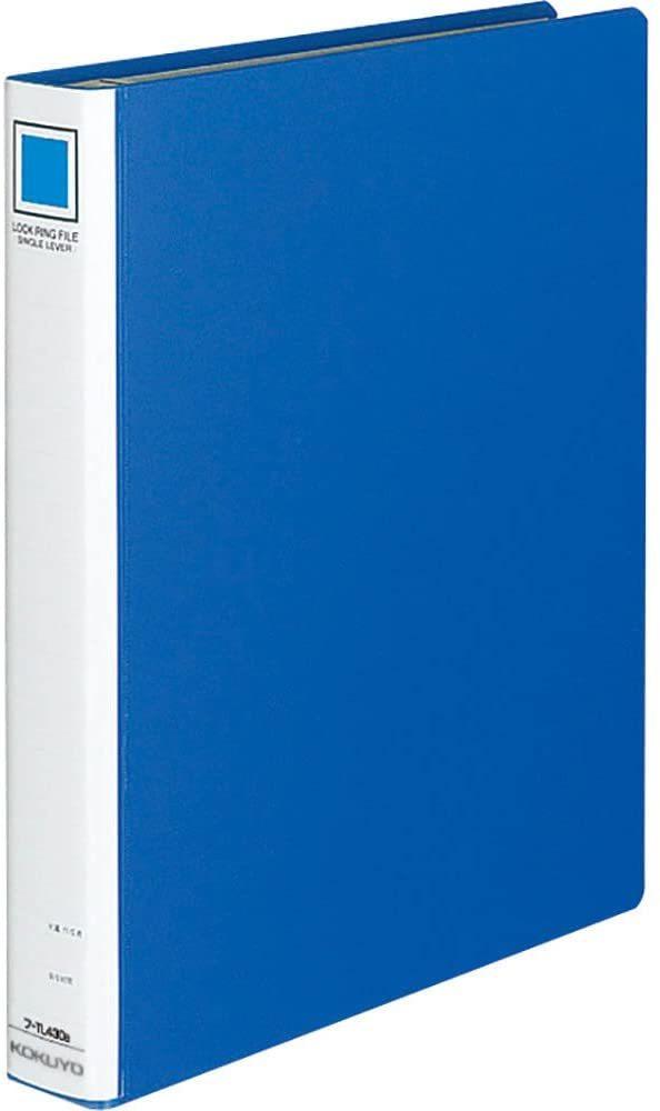 【未使用品】コクヨ ファイル リングファイル シングルレバー A4 縦 青 フ-TL430B_画像1