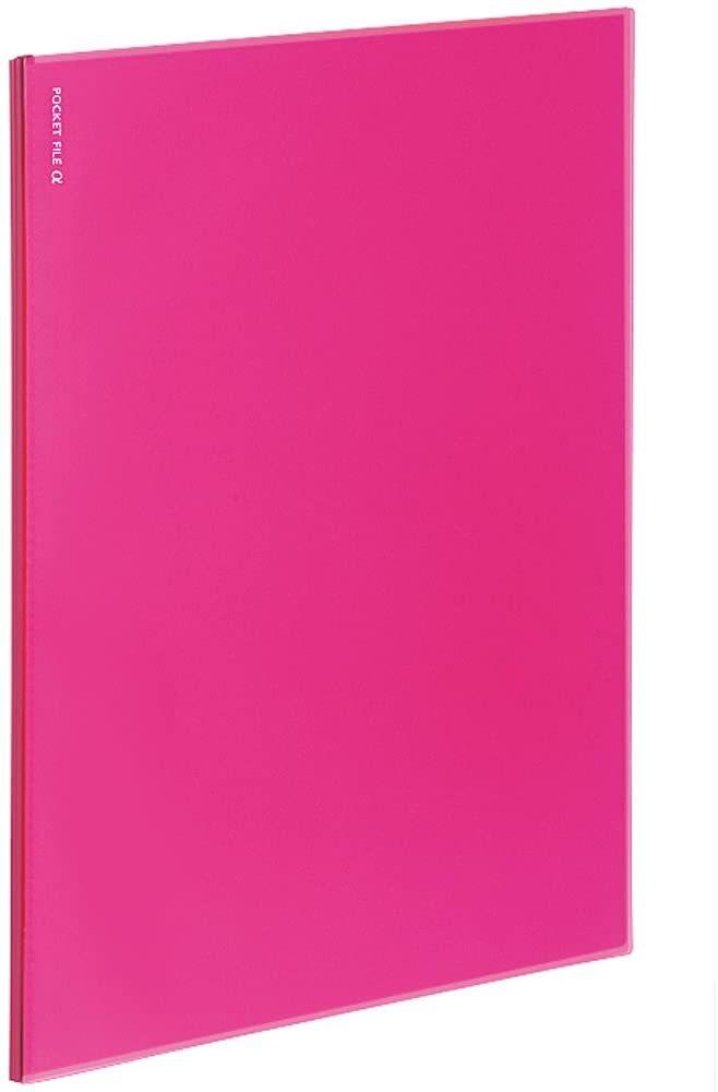 【中古】コクヨ ポケットファイル ノビータα A4 6ポケット ピンク ラ-NF6P×7冊セット_画像1