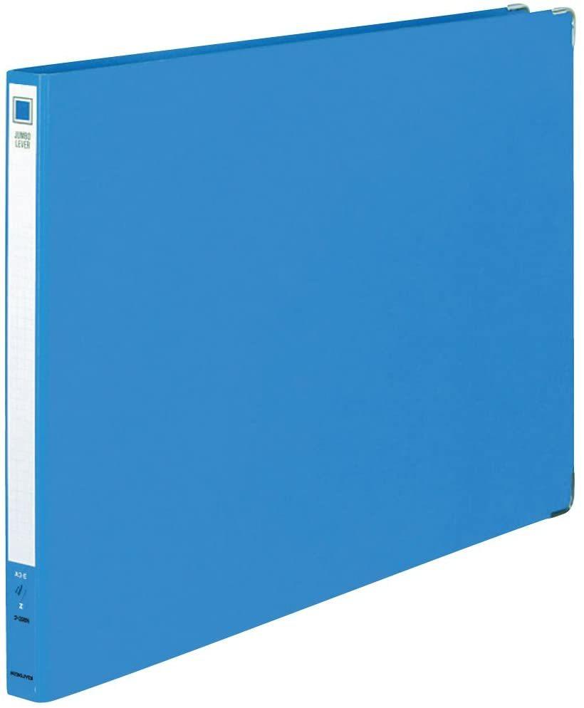 【未使用品】コクヨ ファイル ジャンボレバーファイル 貼表紙 Z式 A3横 15mm 青 フ-398NB_画像1