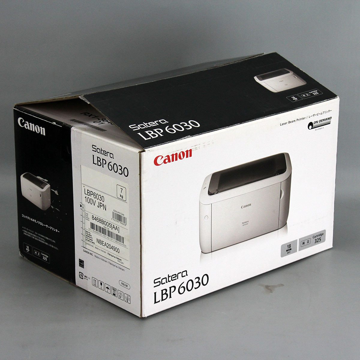 【即決】Canon / Satera LBP6030 / 開封済 未使用品 /モノクロレーザープリンター / A4対応 中古#H_画像4