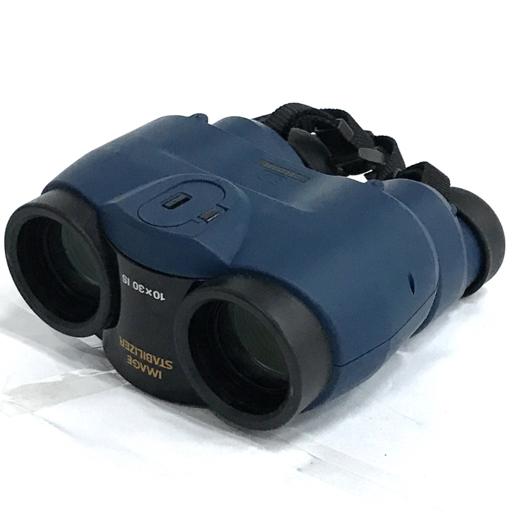 Canon 10×30 IS IMAGE STABILIZER 双眼鏡 キャノン イメージスタビライザー 付属品有り QN015-16