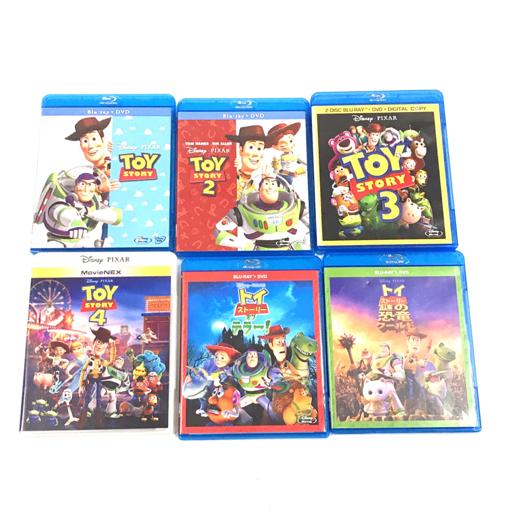 ディズニー ピクサー トイストーリー 他 2 3 4 トイストーリーオブデラー 謎の恐竜ワールド ブルーレイ 計6点_画像1