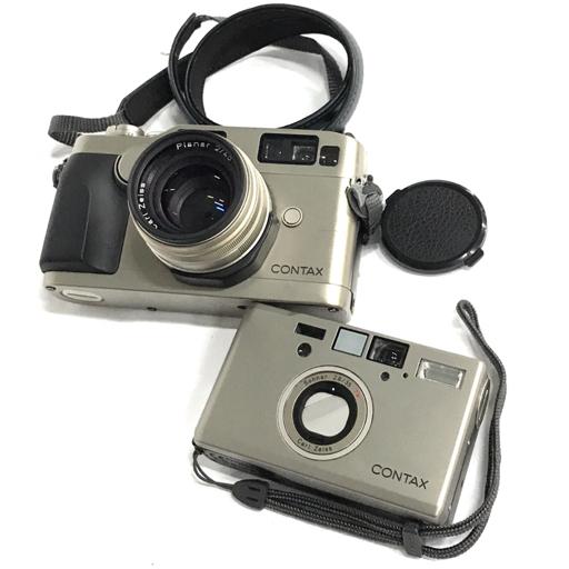 1円 CONTAX G2 Carl Zeiss Planar 2/45 レンジファインダー T3 コンパクト フィルムカメラ 2点セット 動作確認済