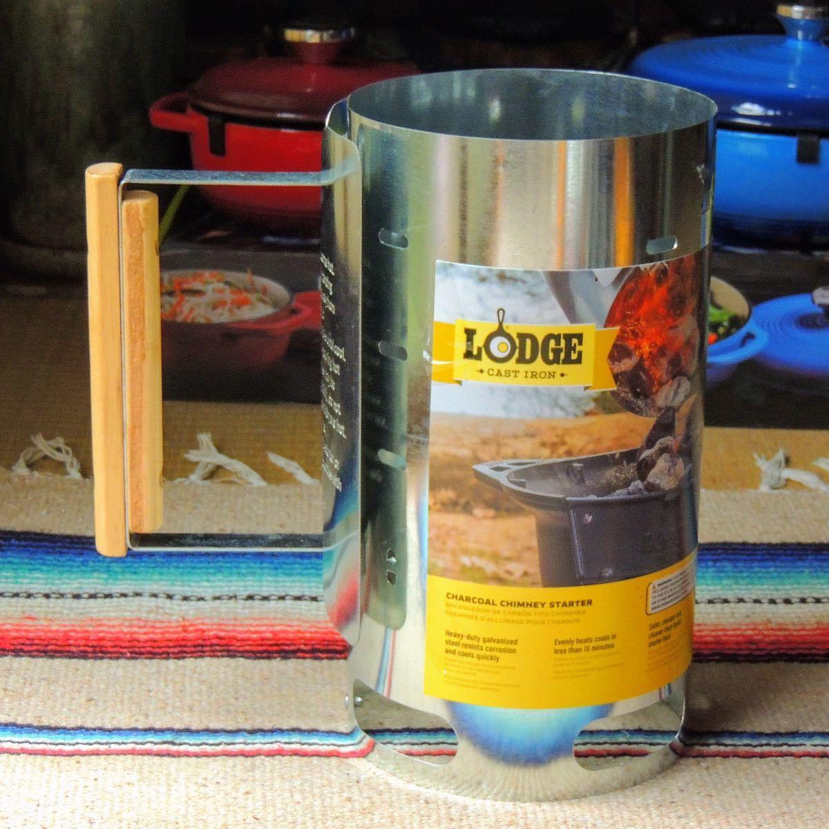 ロッジLODGEチャーチルチムニースターター☆火おこし器 BBQ バーベキュー アウトドア キャンプ ダッチオーブン スキレット outdoor camp