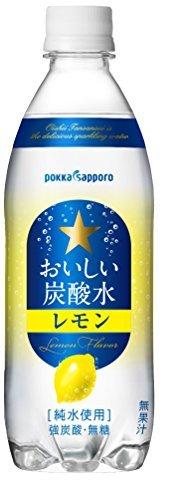 500ml×24本 サッポロ おいしい炭酸水レモン 500ml×24本_画像1