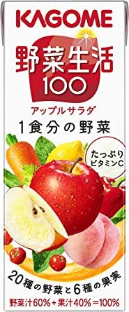 200ml×24本 カゴメ 野菜生活100 アップルサラダ 200ml×24本_画像1