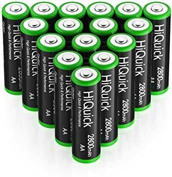 単3形充電池 2800mAh 16本パック HiQuick 単三電池 充電式 ニッケル水素電池 高容量2800mAh ケース4個_画像8