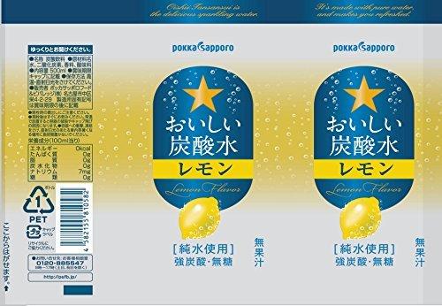 500ml×24本 サッポロ おいしい炭酸水レモン 500ml×24本_画像2