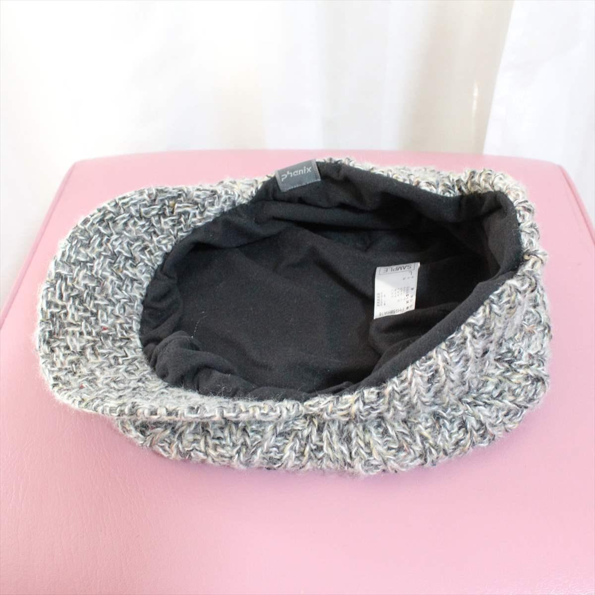 フェニックス phenix melange knit casquette 新品 キャスケット 帽子 メランジニット_画像4