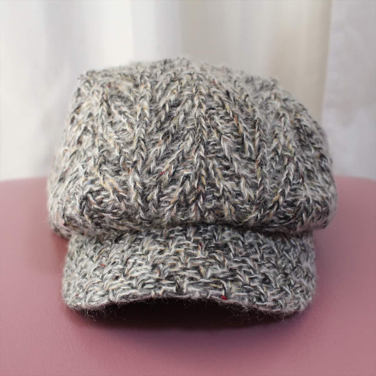 フェニックス phenix melange knit casquette 新品 キャスケット 帽子 メランジニット_裏 Quick Dry Fleece
