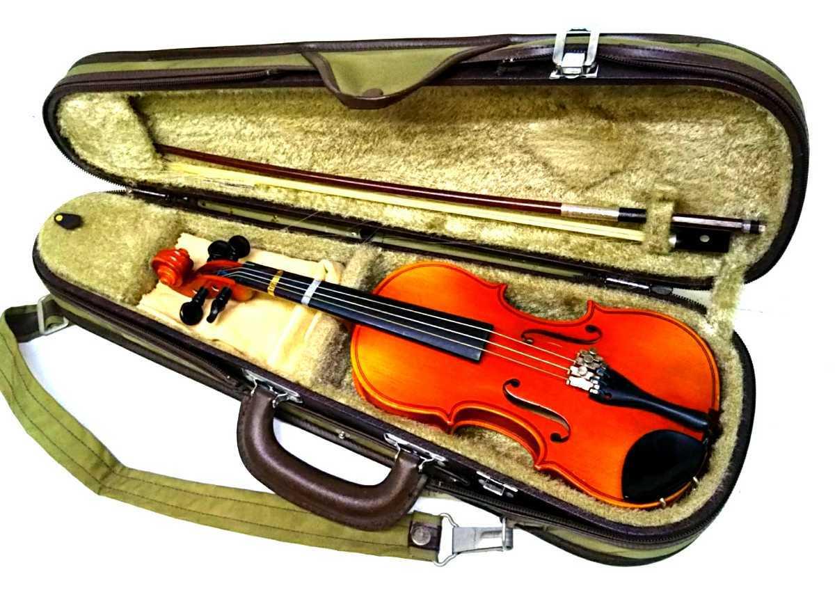 S※ SUZUKI 鈴木バイオリン VIOLIN 1/10 No.220 1991年製 ハードケース付き_画像1