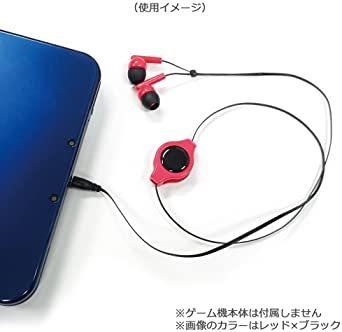 白 PSVita/PSP/New3DSLL/New3DS/スマホ用巻取り式コンパクトイヤホン ホワイト_画像3