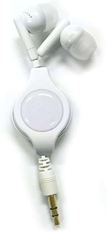 白 PSVita/PSP/New3DSLL/New3DS/スマホ用巻取り式コンパクトイヤホン ホワイト_画像2
