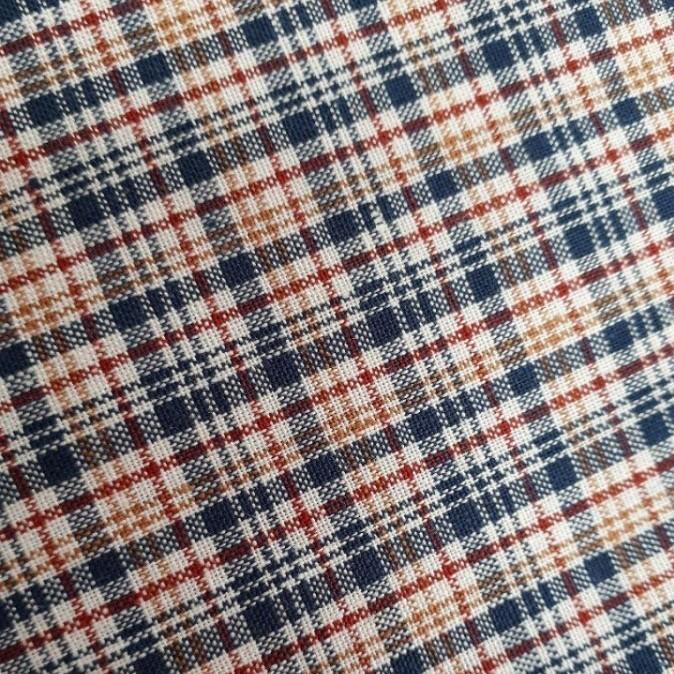 青と赤のチェック柄生地 110×200cm 綿100% 手芸 ハンドメイド 裁縫