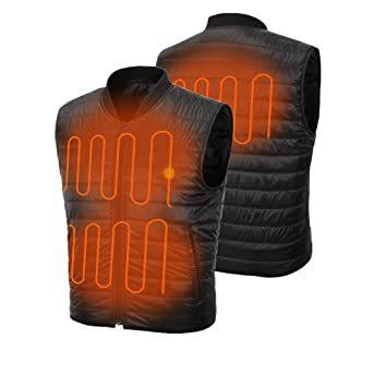 ジッパー留め L 電熱ベスト バイクジャケット 作業ジャケットコートヒーターベスト 防寒 秋冬用 男女兼用 USB加熱 撥水 ツ_画像1