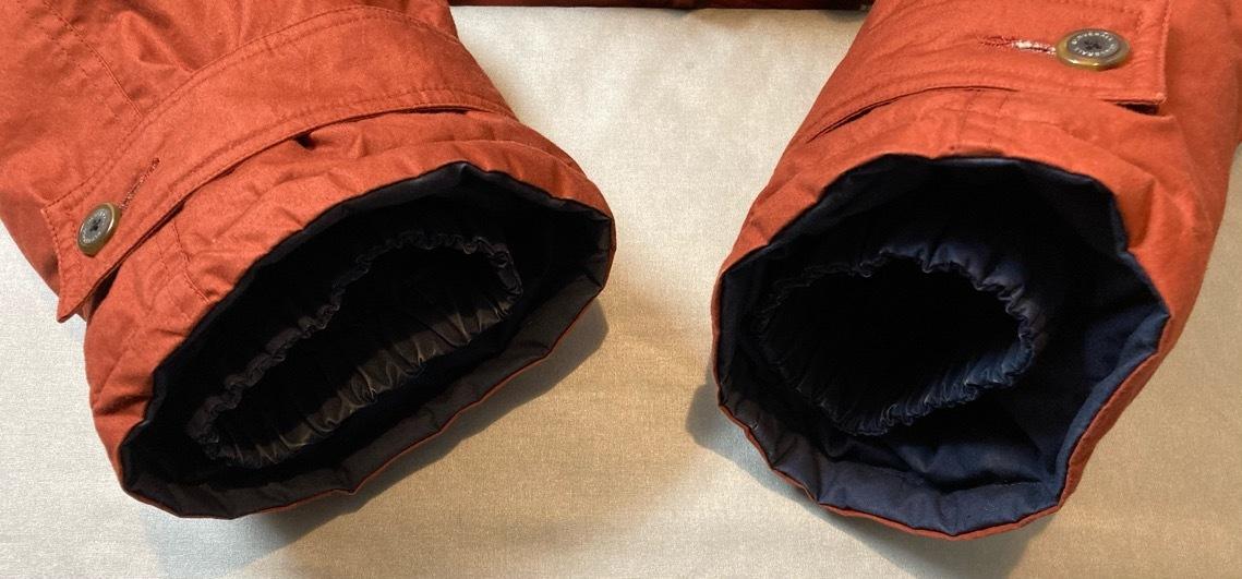 即決 gloverall グローバーオール ダウンジャケット コート ホワイトグース100% メンズ Mサイズ レンガ色_画像8