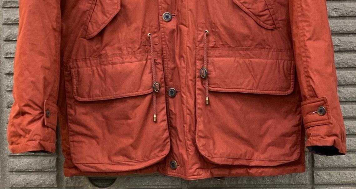 即決 gloverall グローバーオール ダウンジャケット コート ホワイトグース100% メンズ Mサイズ レンガ色_画像5
