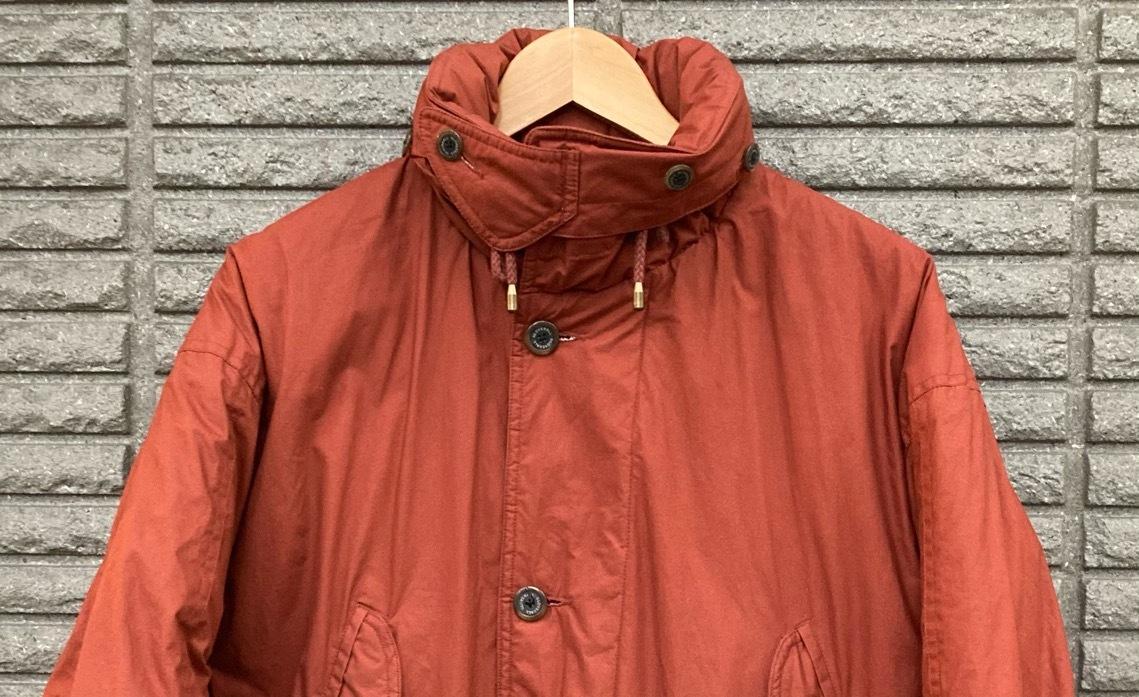 即決 gloverall グローバーオール ダウンジャケット コート ホワイトグース100% メンズ Mサイズ レンガ色_画像4