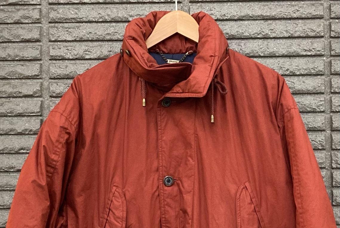 即決 gloverall グローバーオール ダウンジャケット コート ホワイトグース100% メンズ Mサイズ レンガ色_画像3