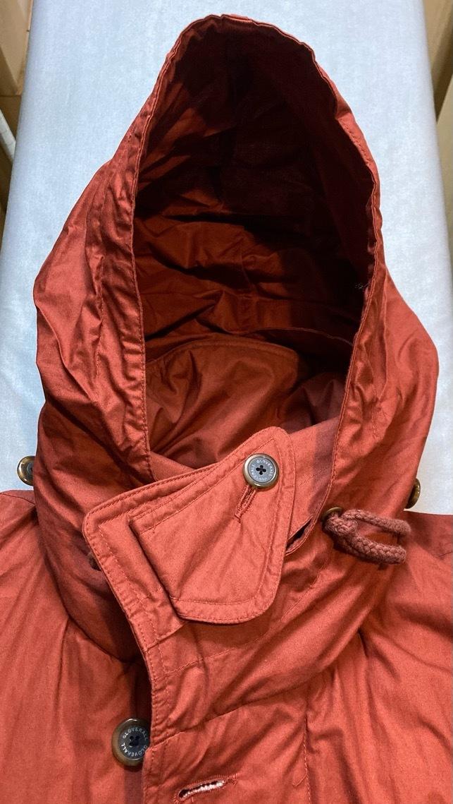 即決 gloverall グローバーオール ダウンジャケット コート ホワイトグース100% メンズ Mサイズ レンガ色_画像7