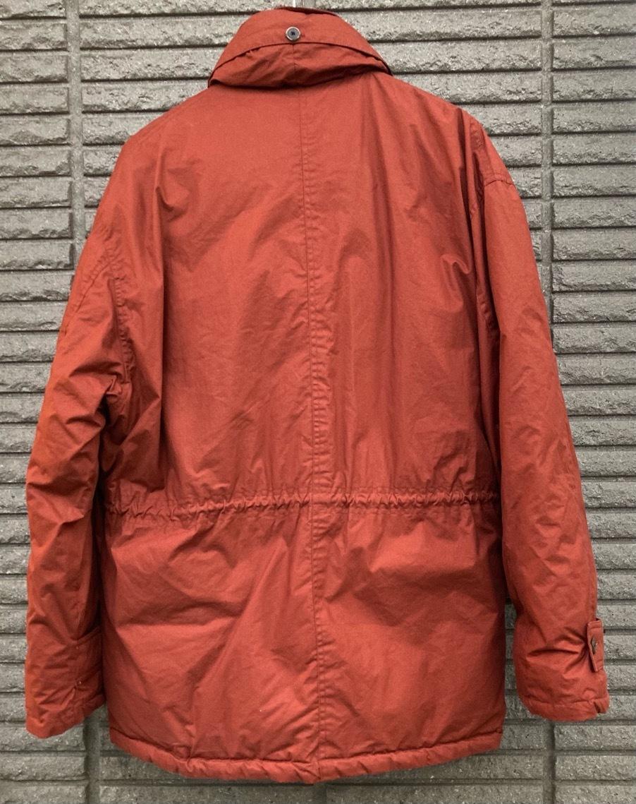 即決 gloverall グローバーオール ダウンジャケット コート ホワイトグース100% メンズ Mサイズ レンガ色_画像2
