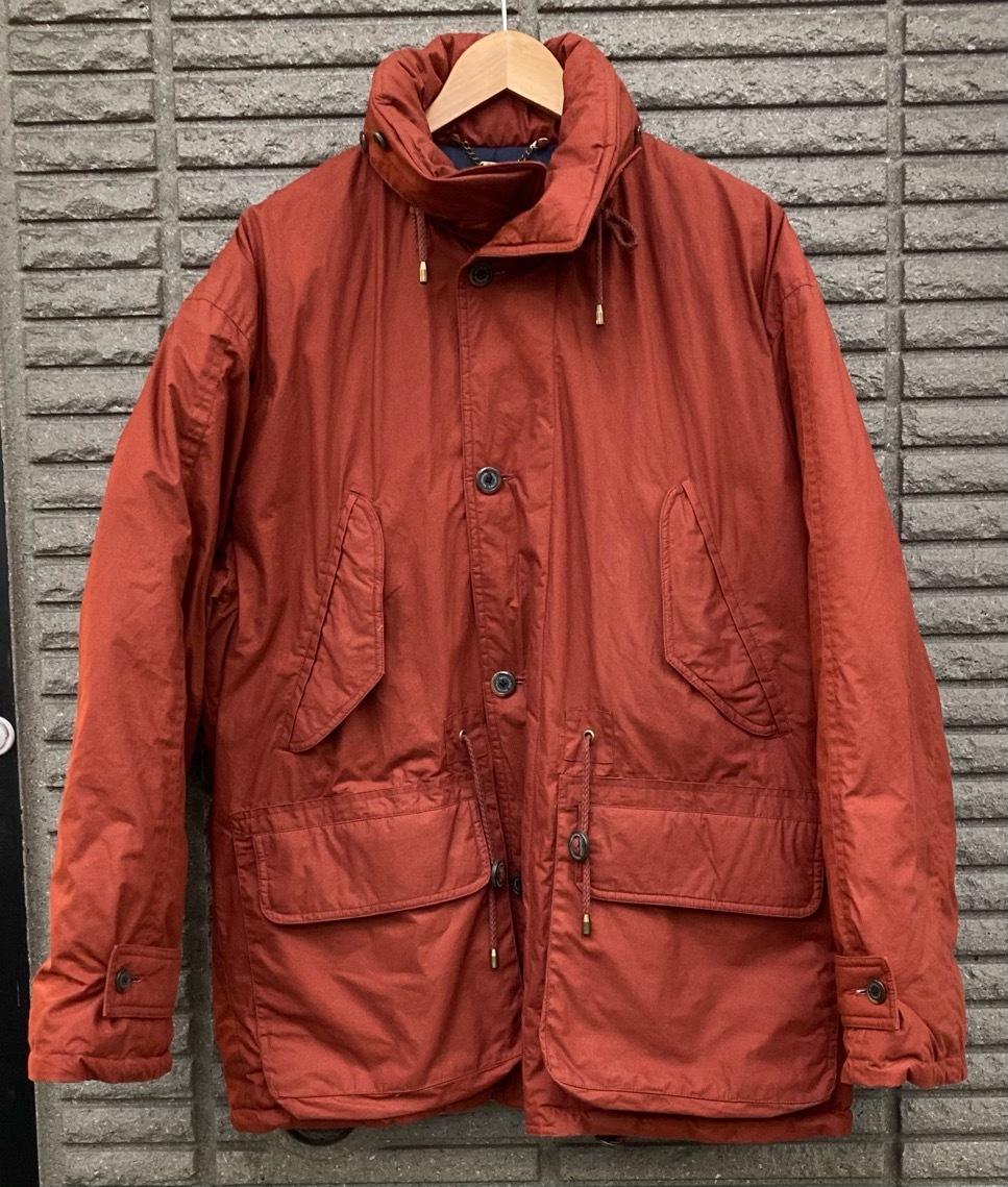 即決 gloverall グローバーオール ダウンジャケット コート ホワイトグース100% メンズ Mサイズ レンガ色_画像1