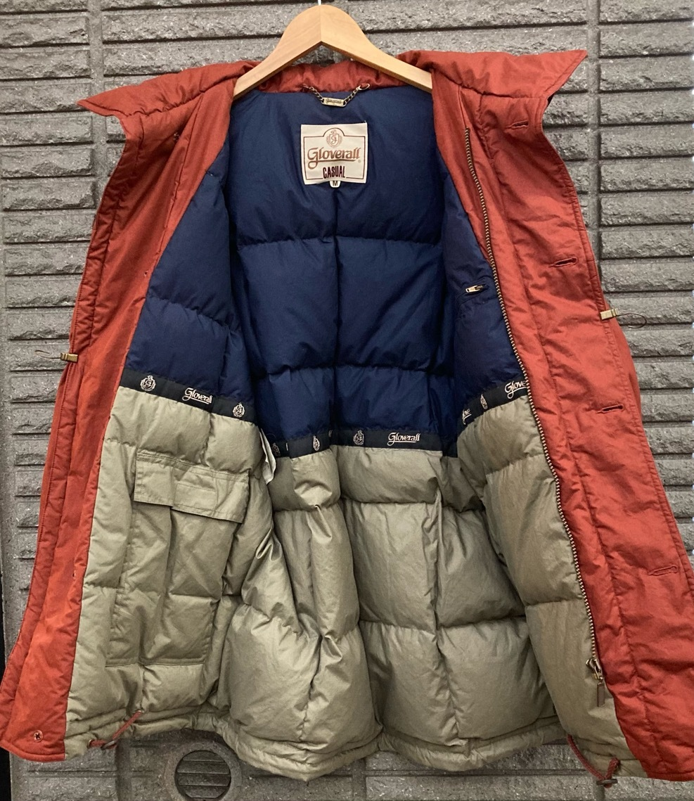 即決 gloverall グローバーオール ダウンジャケット コート ホワイトグース100% メンズ Mサイズ レンガ色_画像6