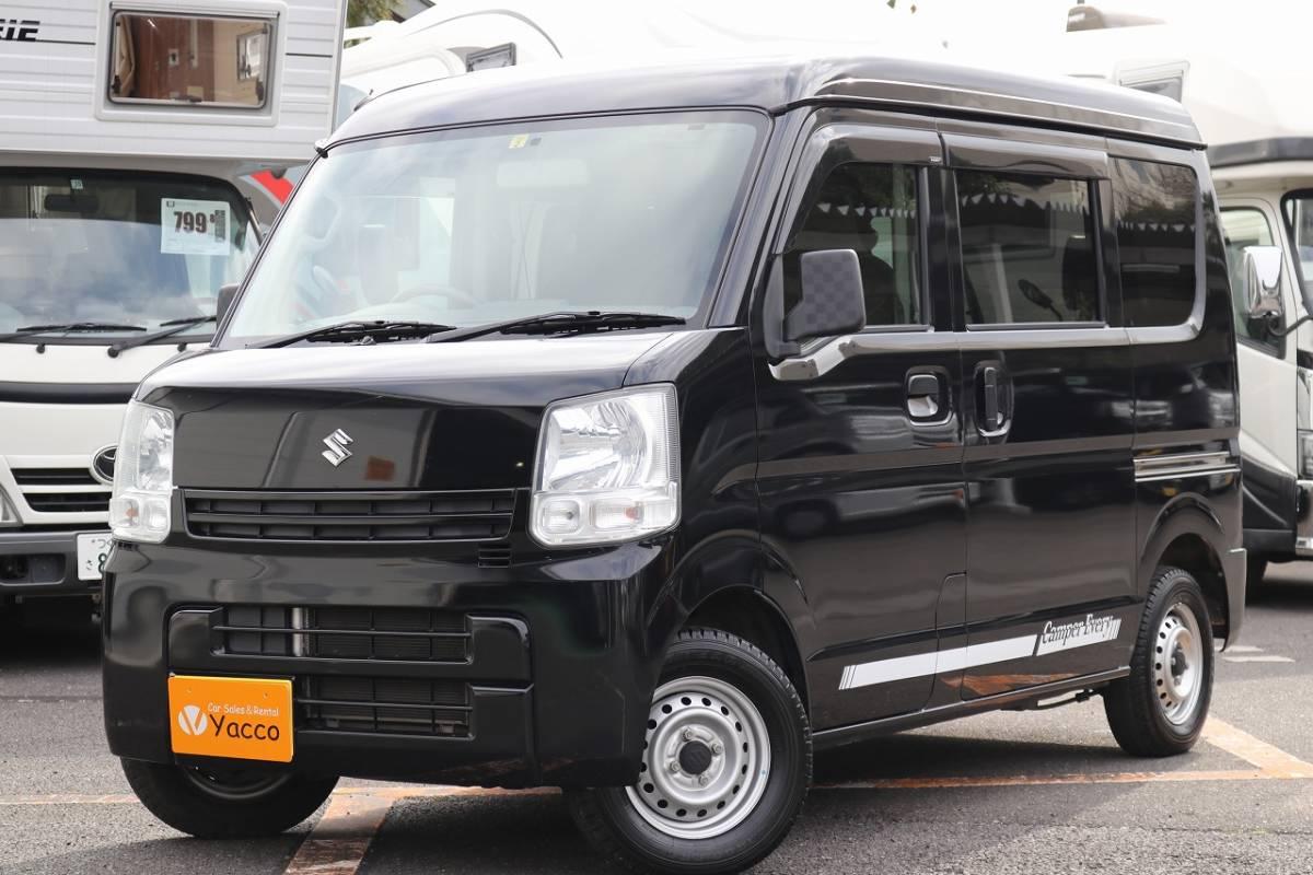 「JRVA加盟店!エヴリィV オリジナルキャンピングカー ソーラーパネル メモリーナビ ETC 乗車2人(4人) 就寝2人 インバーター」の画像1