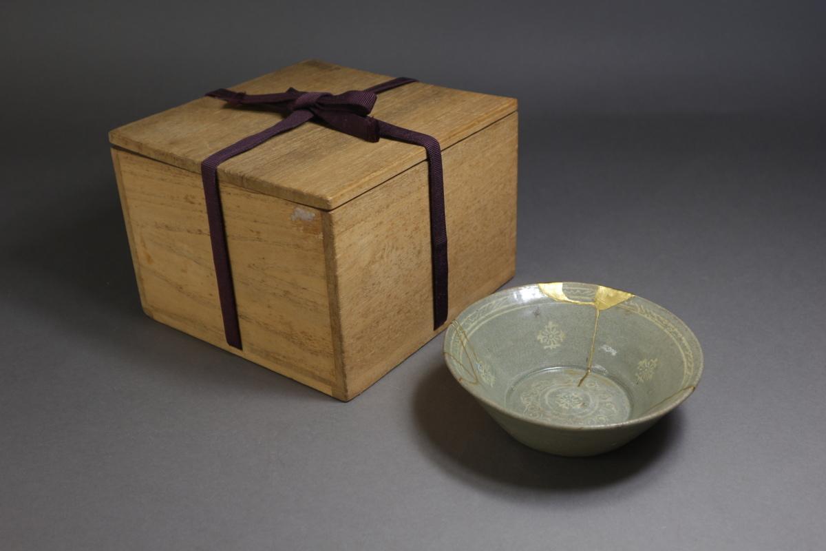 高麗青磁 象嵌花文鉢 朝鮮古陶磁 / 金継ぎの美_画像10