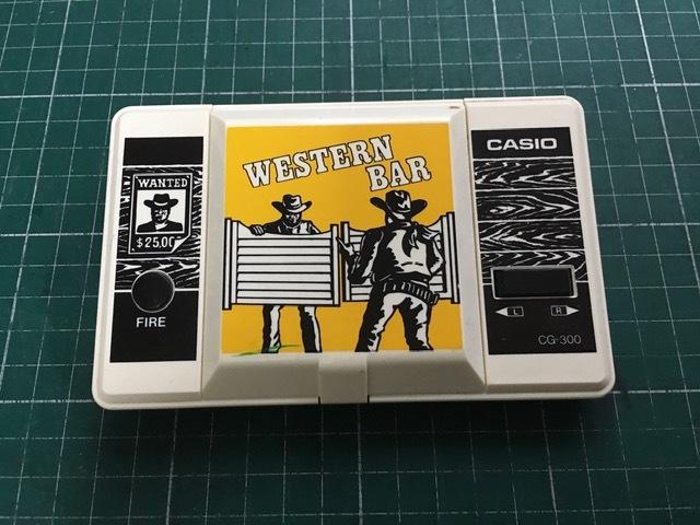 劇レア! カシオ CASIO CG-300 元箱・説明書付 ウエスタンバー WESTERN BAR ゲームウォッチサウンド_画像2
