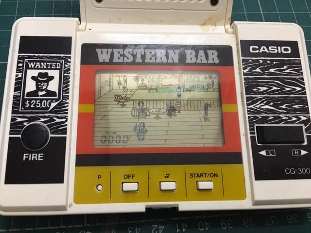 劇レア! カシオ CASIO CG-300 元箱・説明書付 ウエスタンバー WESTERN BAR ゲームウォッチサウンド_画像3