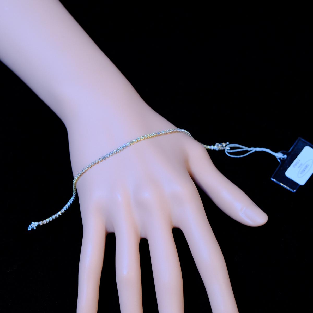 *BL2145【BC新作ブライダルコレクション】Tennis Bracelet 天然絶品ダイヤモンド1.00ct 最高級18金YGPG・Pt950無垢テニスブレスレット
