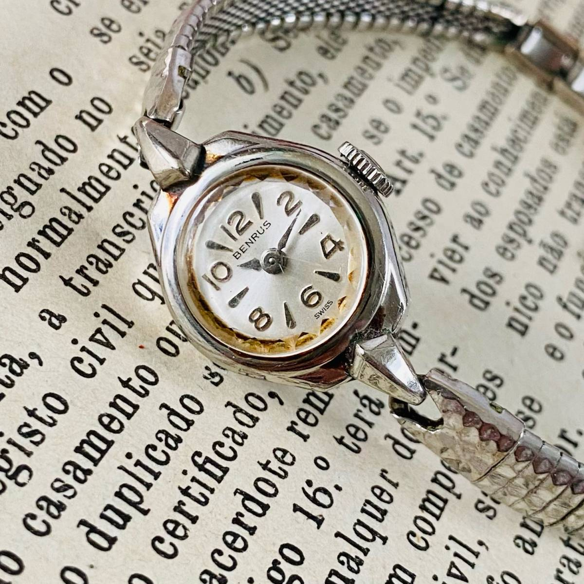 【高級腕時計 ベンラス 】Benrus 10KRGP 手巻き 17石 手巻き メンズ レディース ビンテージ アナログ 腕時計 7026_画像5