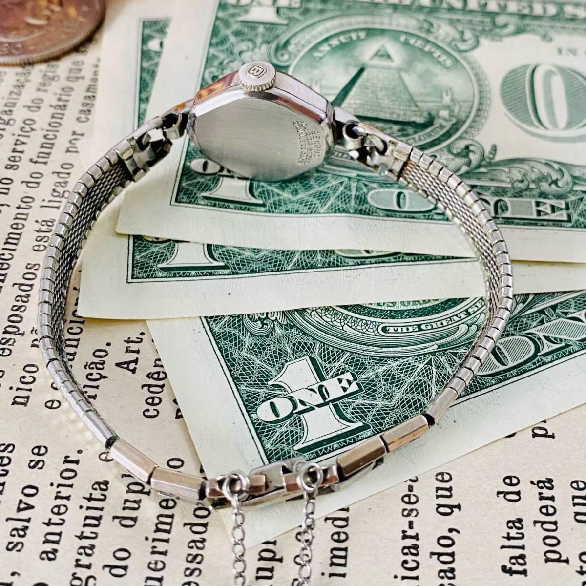 【高級腕時計 ベンラス 】Benrus 10KRGP 手巻き 17石 手巻き メンズ レディース ビンテージ アナログ 腕時計 7026_画像8