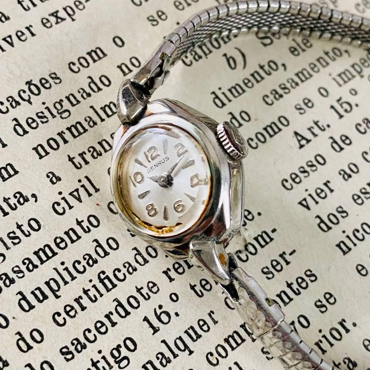 【高級腕時計 ベンラス 】Benrus 10KRGP 手巻き 17石 手巻き メンズ レディース ビンテージ アナログ 腕時計 7026_画像6