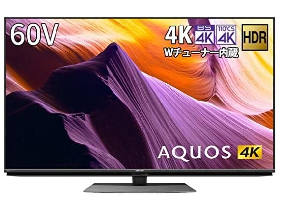 D FK013005 展示品 シャープ AQUOS アクオス 4K 液晶テレビ 60V型 4T-C60BH1 2020年製_画像1